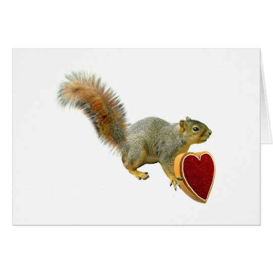 Squirrel with Heart Box Card