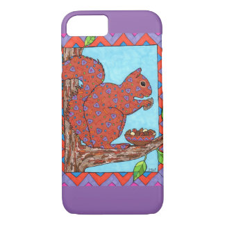 Squirrel with Mixed Nuts Mexican Folk Art iPhone 7 Case