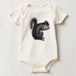 Squirrel with Nut Infant Creeper
