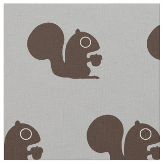 Squirrel with Nut Pattern Fabric