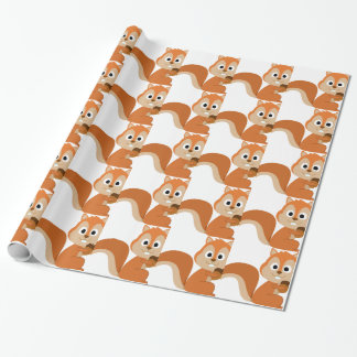 squirrel with nut wrapping paper