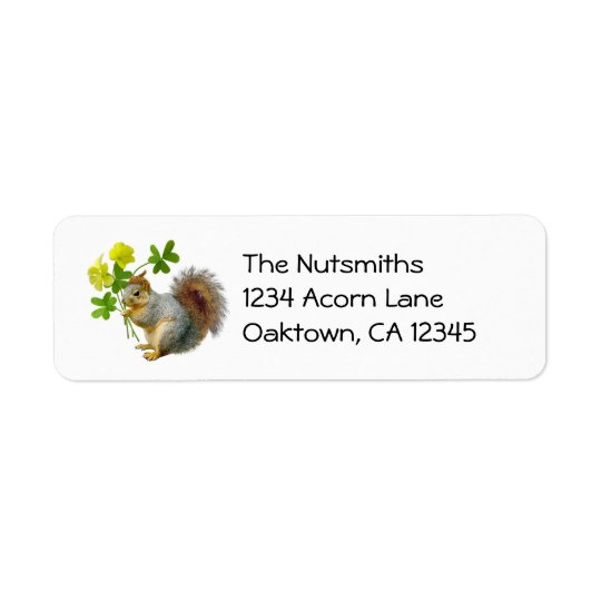 Squirrel with Sourgrass Address Labels
