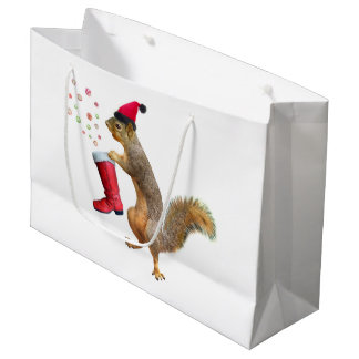 Squirrel with St. Nicholas' Boot Gift Bag