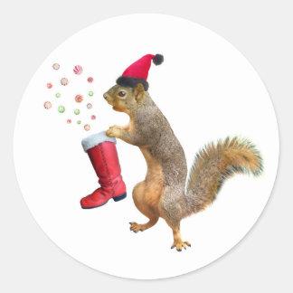 Squirrel with St. Nicholas' Boot Sticker
