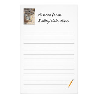 Squirrel Writer Ruled Stationery