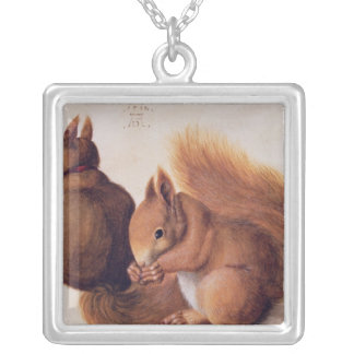 Squirrels, 1512 silver plated necklace