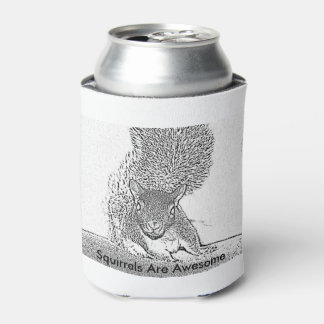 Squirrels are awesome can cozy can cooler