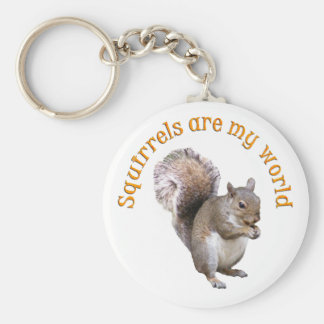 Squirrels are my World Key Ring