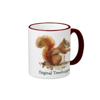 Squirrels are the Original Treehuggers Humor Ringer Mug