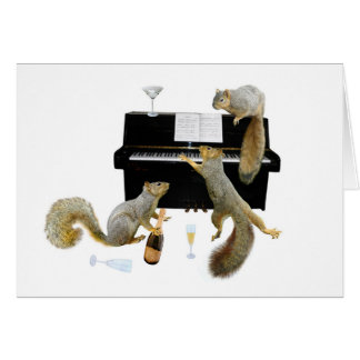 Squirrels at the Piano Greeting Card