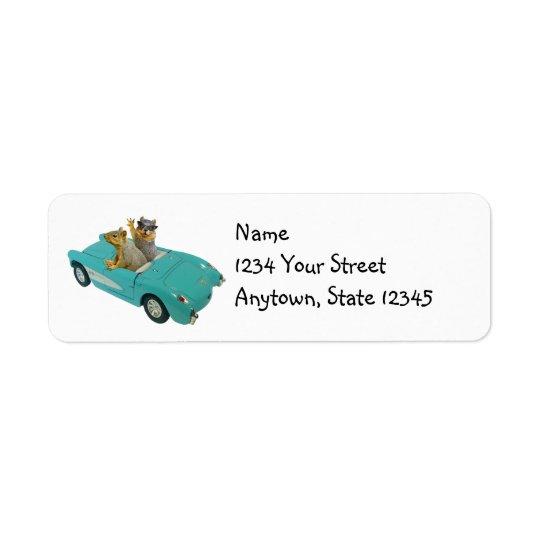 Squirrels in Car Address Labels
