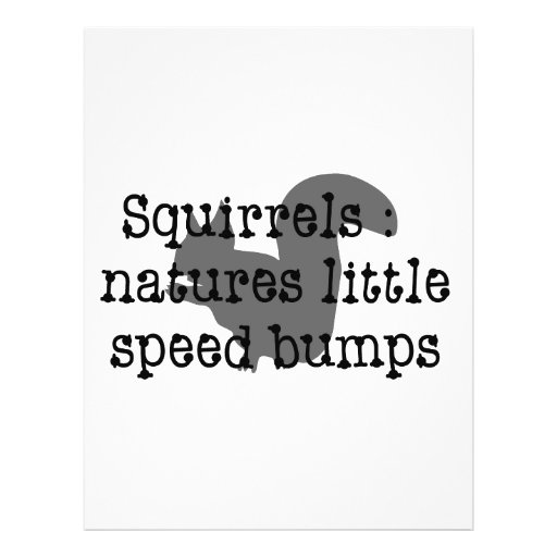 Squirrels : Natures Little Speedbumps 21.5 Cm X 28 Cm Flyer