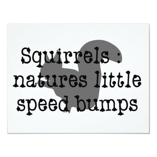Squirrels : Natures Little Speedbumps Card