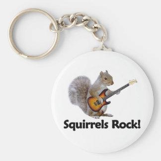 Squirrels Rock! Basic Round Button Key Ring