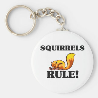 SQUIRRELS Rule! Basic Round Button Key Ring