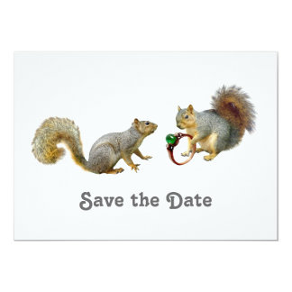 Squirrels Save the Date Card