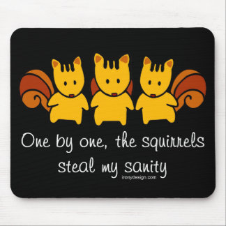 Squirrels steal my sanity mouse mat