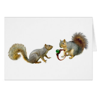 Squirrels with Ring Card