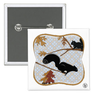Squirrely Business 15 Cm Square Badge