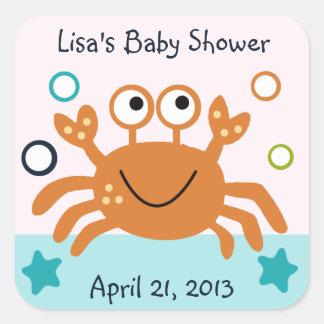 Squirt Bubbles/Crab Stickers/Envelope Seals Square Sticker
