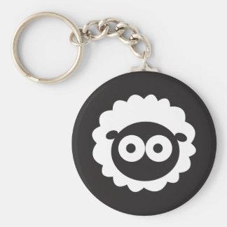 Squishy Sheep Basic Round Button Key Ring