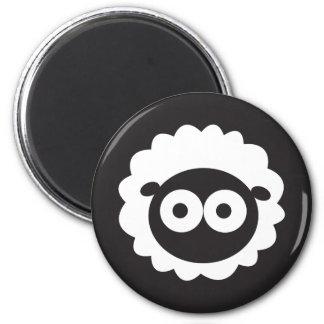Squishy Sheep 6 Cm Round Magnet