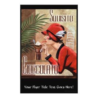 Squisito Cioccolato Italian Chocolate Woman in Red 14 Cm X 21.5 Cm Flyer