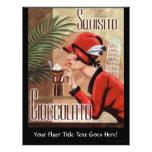 Squisito Cioccolato Italian Chocolate Woman in Red 21.5 Cm X 28 Cm Flyer