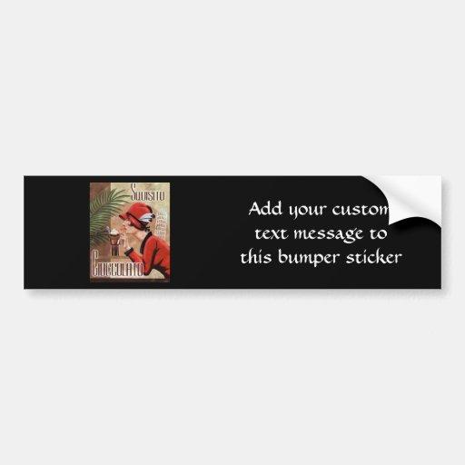 Squisito Cioccolato Italian Chocolate Woman in Red Bumper Sticker