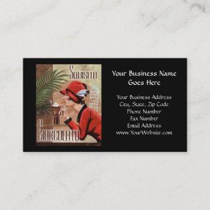 Italian business cards zazzle uk squisito cioccolato italian chocolate woman in red business card colourmoves