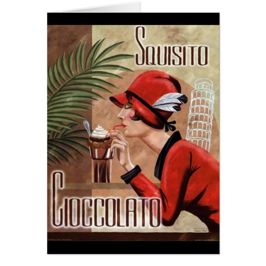 Squisito Cioccolato Italian Chocolate Woman in Red Card