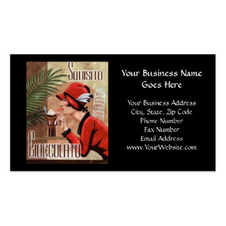 Squisito Cioccolato Italian Chocolate Woman in Red Pack Of Standard Business Cards