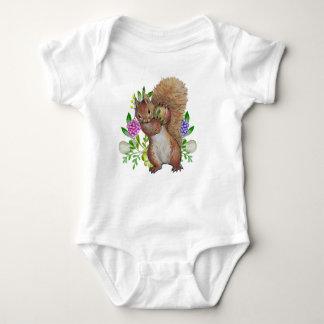 Squrrel With Apple, Baby Jersey Bodysuit