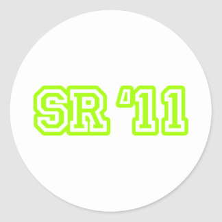 SR11 LIME ROUND STICKERS