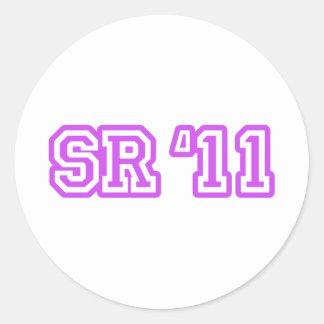 SR11 PURPLE ROUND STICKERS