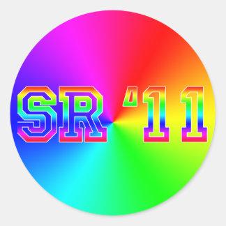 SR11 RAINBOW ROUND STICKERS