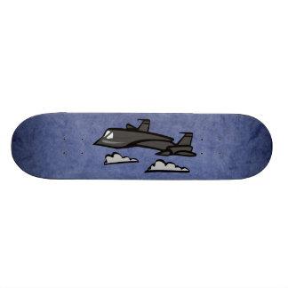 SR71 Blackbird Recon Plane Flying In Clouds Skate Boards