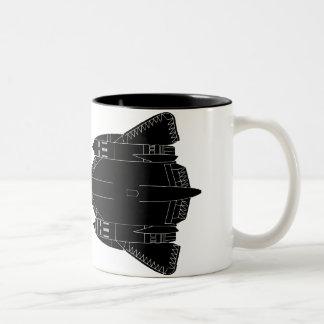 SR71 Blackbird Silhouette Two-Tone Coffee Mug