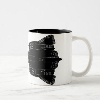 SR71 Blackbird Silhouette Two-Tone Mug