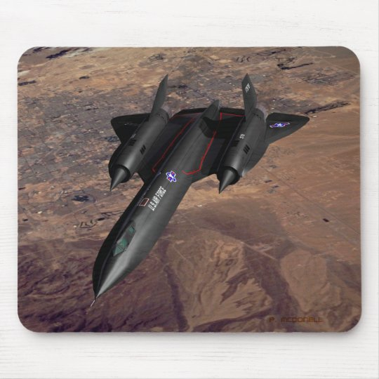 SR-71 over Las Vegas Mouse Pad