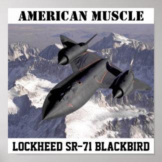 SR-71BlackbirdLockheed: AMERICAN MUSCLE Poster