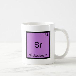 Sr - Shakespeare Funny Chemistry Element Symbol Basic White Mug