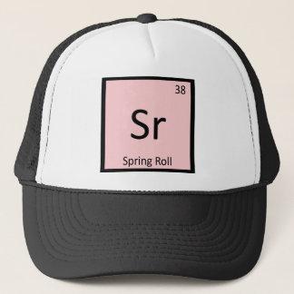 Sr - Spring Roll Appetizer Chemistry Symbol Trucker Hat