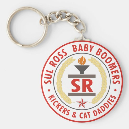 SRBaby Boomer Seal 2007 Basic Round Button Key Ring