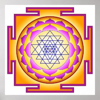 Sri Chakra Goddess Shri Lalitha Tripura Sundari Posters