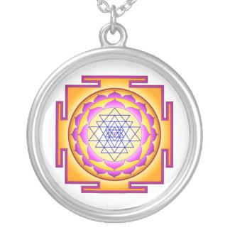Sri Chakra Goddess Shri Lalitha Tripura Sundari Round Pendant Necklace