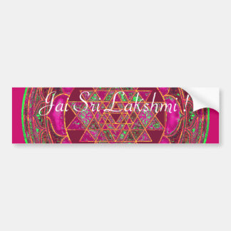 Sri Lakshmi Yantra Mandala Bumper Sticker