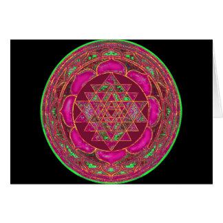 Sri Lakshmi Yantra Mandala Card