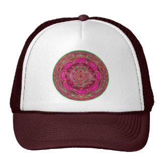 Sri Lakshmi Yantra Mandala Mesh Hats