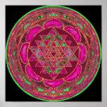 Sri Lakshmi Yantra Mandala Poster